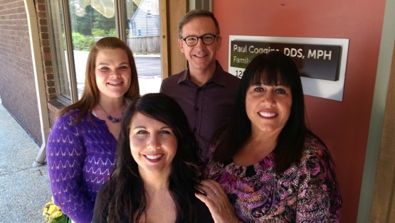Paul Coggins DDS MPH PA Staff outside Front Door